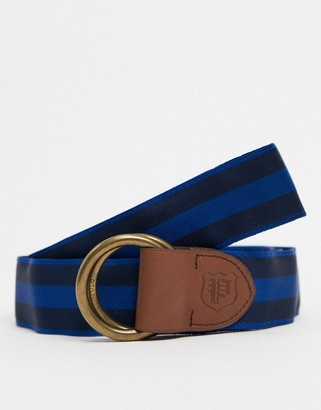 Polo Ralph Lauren leather crossgrain braided belt in red/navy