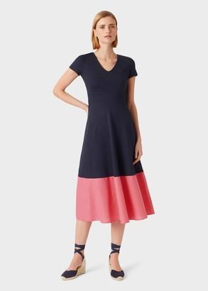 Hobbs Evangeline Jersey Colourblock Midi Dress
