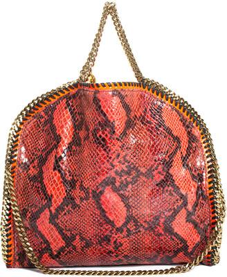 Stella McCartney Red & Black Vegan-Friendly Faux Snakeskin Leather Falabella Bag