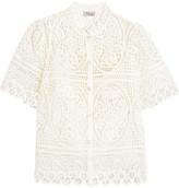 Temperley London Titania Guipure Cotton-lace Blouse - UK10