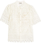 Temperley London Titania Guipure Cotton-lace Blouse - White