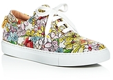 Moschino Floral Lace Up Sneakers