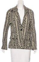 Diane von Furstenberg Zebra Printed Blazer
