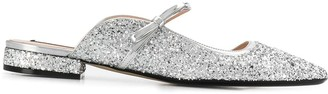 No.21 Glittered Silver Slippers
