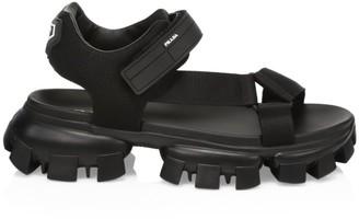 Prada Nastro & Maglia Tech Sandals
