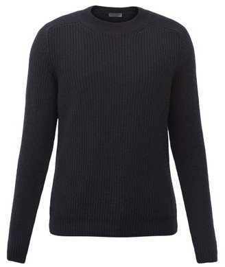 Iris von Arnim Ethan Crew-neck Ribbed-cashmere Sweater - Navy