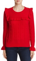 Kate Spade Ruffle Trim Popcorn Sweater