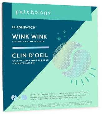 Patchology FlashPatch Wink Wink Two Restoring Night Patches & Two Rejuvenating Eye Gels