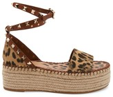 Valentino Garavani Rockstud City Safari Double Espadrille Platform Sandals