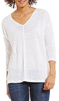 Vince Camuto Two by Front Seam Linen Tee