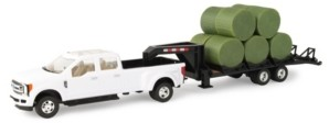 Tomy Ford F-350 1/32 Pickup with Gooseneck Trailer and 10 Bales