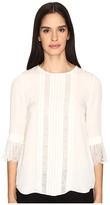 Kate Spade Lace Inset Silk Top Women's Clothing