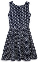 Aqua Girls' Geo Print Cutout Back Knit Dress , Big Kid - 100% Exclusive
