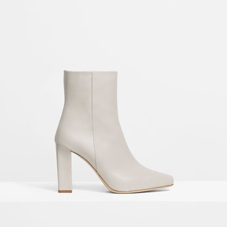 Theory Slim Square Boot in Leather