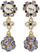 Erdem Purple and Gold Jewelled Drop Earrings
