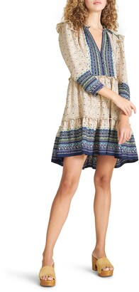 Veronica Beard Lumi Mix Print Silk Dress