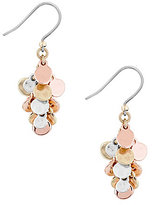 Lucky Brand Two-Tone Cluster Drop Earrings