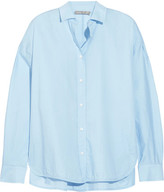 Vince Split-side Cotton Shirt - Sky blue