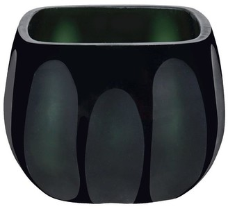 "Aspen Creative Corporation Aspen Creative Green Glass Votive Candle Holder 3-1/2"" Length x 3-1/2"" Width x 2-3/4"" Height, 1 Pack"