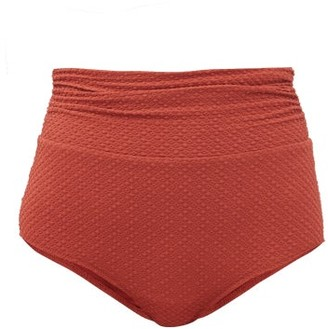 Dodo Bar Or Salina High-rise Ruched Bikini Bottoms - Dark Red