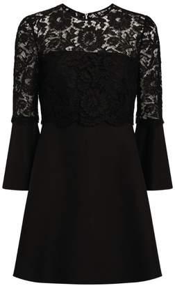 Valentino Lace A-Line Mini Dress