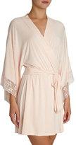 Eberjey Zelia Lace-Trim Kimono Robe, Light Pink