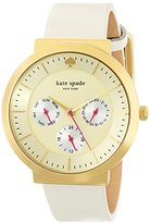 Kate Spade Women's 1YRU0512 Metro Grand Watch with White Leather Band