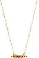 "Jessica Elliot Small Gold ""Colorful"" Love Necklace"