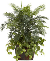 Asstd National Brand Nearly Natural 3.5-ft. Double Areca & Pothos Silk Plant with Vase