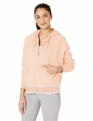 Calvin Klein Women's Long Sleeve Full Zip Hooded Jacket with Logo Tape