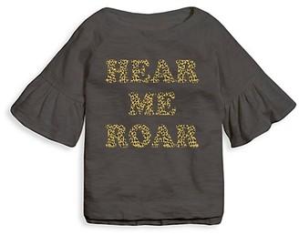 Tiny Whales Little Girl's & Girl's Hear Me Roar Belle Sleeve T-Shirt
