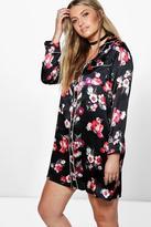 boohoo Plus Jessie Floral Woven Pyjama Dress multi