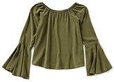 Copper Key Big Girls 7-16 Bell-Sleeve Woven Top