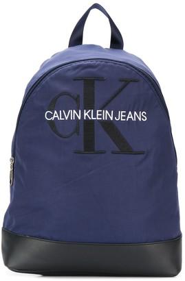 Calvin Klein Monogram Embroidery Backpack