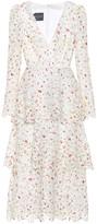 Monique Lhuillier Floral lace midi dress