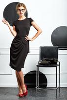 Shabby Apple Orca Wrap Dress Black