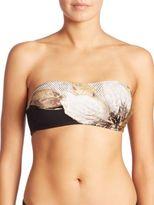 Carmen Marc Valvo Guilded Garden Strappy Bandeau Bikini Top