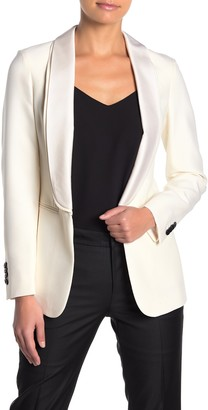 SUISTUDIO Cameron Shawl Collar Wool Blend Tuxedo Blazer