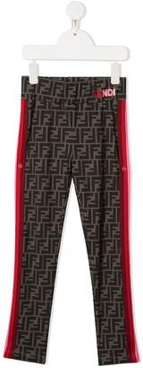Fendi Kids Zucca-print leggings