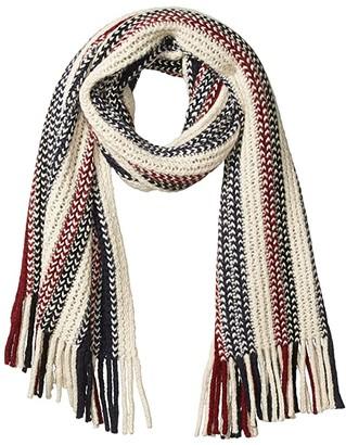 J.Crew Warp Knit Fringe Blanket Scarf (Natural Ochre) Scarves