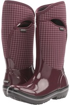 Bogs Plimsoll Houndstooth Tall