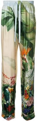 Dolce & Gabbana Tropical Print Trousers