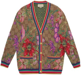 Gucci GG Flora wool jacquard cardigan