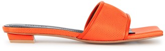 SALONDEJU Volure Orange Lizard-effect Mules
