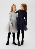 MANGO Tulle skirt short dress medium heather grey - 5 - Kids