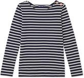 Petit Bateau Womens long-sleeved striped light cotton T-shirt