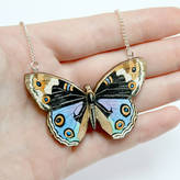 Freya Ladybird Likes Wooden Butterfly Necklace