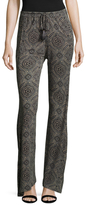 Calypso St. Barth Lenglet Print Curved Cuff Pants