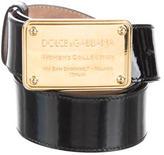 Dolce & Gabbana Patent Logo Belt