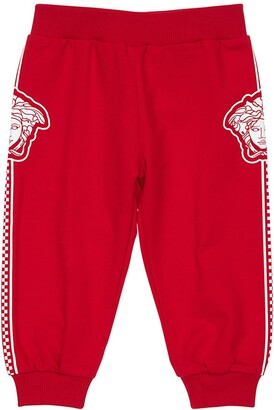 Versace Medusa Print Cotton Sweatpants